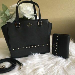 New kate spade satchel /Crossbody & wallet set